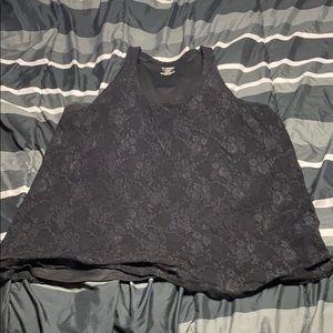 Lane Bryant Black Lace Top
